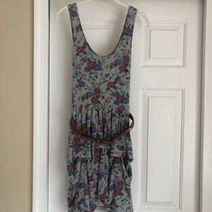 Flower dress with belt